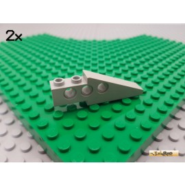 LEGO® 2Stk Technic Stein 1x6 schräg alt-hellgrau 2744