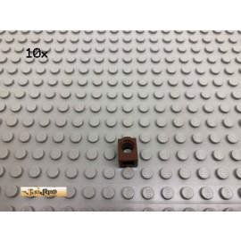 LEGO® 10Stk 1x1 Lochstein Brick Braun, Brown 6541 56