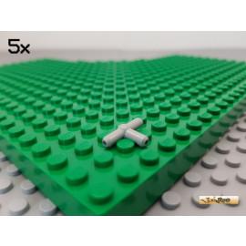 LEGO® 5Stk Pneumatik Schlauch Verbinder / T-Stück alt-hellgrau 4697