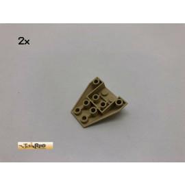 LEGO® 2Stk 4x4 Schräg Keil Stein Brick Beige, Tan 4855 75