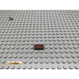 LEGO® 3Stk 1x2 Fliese Brick Rotbraun, Reddish Brown 3069 68