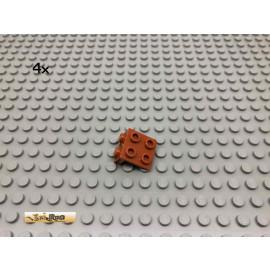 LEGO® 4Stk 1x2 , 2x2 Winkelplatte Dunkelorange, Braun Orange 44728 12