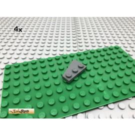 LEGO® 4Stk 2x3 Platte Flügel Keil Flach Dunkel Grau, Dark Gray 43722