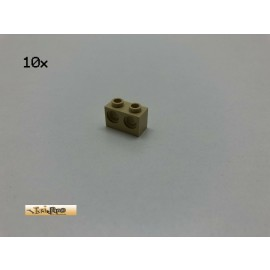 LEGO® 10Stk 1x2x1 Technik Lochstein Basic Brick Beige, Tan 32000 r