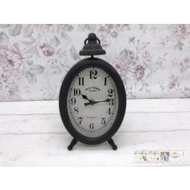 Deko Uhr Standuhr Oval Rund Shabby Dekoration Vintage Landhaus