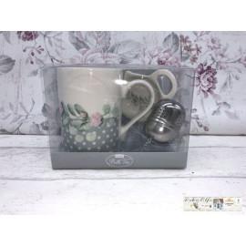 Gilde Teetassenset Tee - Ei Tasse Blumen verziert Nostalgisch
