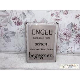 Metallschild mit Spruch zum Hängen Shabby Look Engel Schutzengel Schild