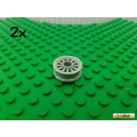 LEGO® 2Stk Felge ohne Reifen hellgrau 30155