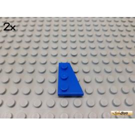LEGO® 2Stk Keil / Flügelplatte 2x3 rechts blau 43722