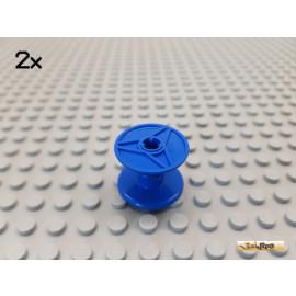 LEGO® 2Stk Kabelrolle / Rolle / Trommel blau 32012