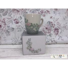 Gilde Bella Vita Kaffeetasse Teetasse Porzellan mit Blumen verziert