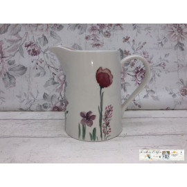Gilde Bella Vita Krug Kanne Porzellan mit Blumen verziert Vintage