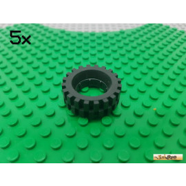 LEGO® 5Stk Reifen / Gummi ohne Felge 2346