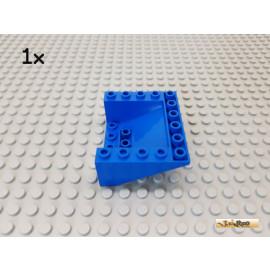 LEGO® 1Stk Dachstein / Schrägstein 5x6x2 negativ blau 6989