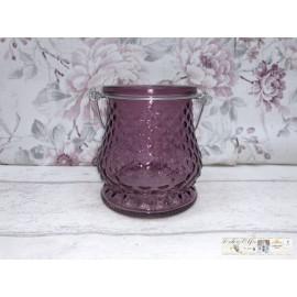 Windlicht Teelicht Teelichthalter Glas Kerzenhalter Tischdeko Rosa