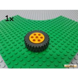 LEGO® 1Stk Reifen / Gummi mit Felge orange 13x24