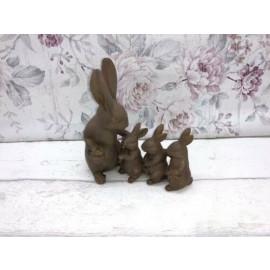 Deko Osterhasen Mama mit Kinder Ostern Hase