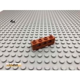 LEGO® 4Stk 1x4 Technic Lochstein Balken Dunkelorange, Braun Orange 3701 24