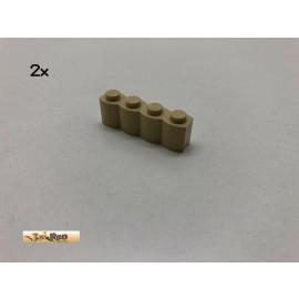 LEGO®  2Stk 1x4x1 Palisade Basic Brick Beige, Tan 30414 ae