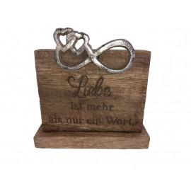 Gilde Schild mit Spruch aus Holz und Aluminium Dekoration Nostalgisch