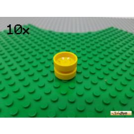 LEGO® 10Stk Felge ohne Reifen gelb 30285