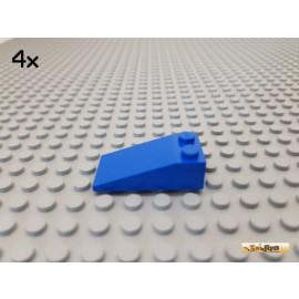 LEGO® 4Stk Dachstein / Schrägstein 2x4x1 blau 30363