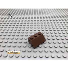 LEGO® 2Stk 2x3 45° Dachstein Braun, Brown 3038 182