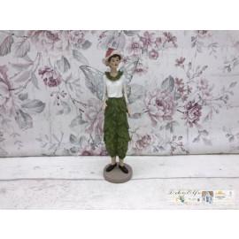 Deko Garten Fee Elfe Blumen Fee Landhaus Vintage Hose aus Blättern