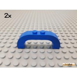LEGO® 2Stk Bogen / Bogenstein / Rundbogen 1x6x2 blau 6183