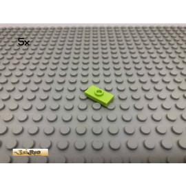 LEGO® 5Stk 1x2 Platte Plate Fliese mit 1 Noppe mittig Limette, Lime 3794 39