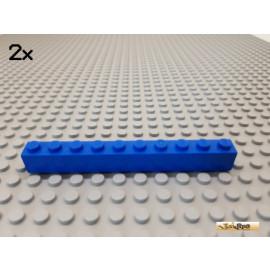 LEGO® 2Stk Stein Basic 1x10 blau 6111