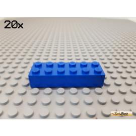 LEGO® 20Stk Stein Basic 2x6 blau 2456
