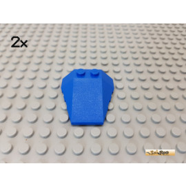 LEGO® 2Stk Keilstein / Rumpf 4x4 blau 48933