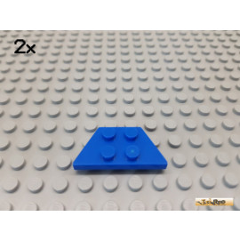 LEGO® 2Stk Keil / Flügelplatte 2x4 blau 51739