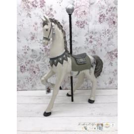 Chic Antique Zirkuspferd Pferd  Weiß Nostalgisch Shabby
