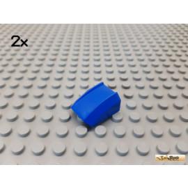LEGO® 2Stk Platte 2x2 modifiziert / Schrägstein blau 30602