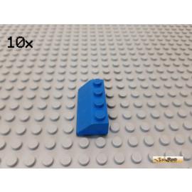 LEGO® 10Stk Dachstein / Schrägstein 2x4 45° blau 3037