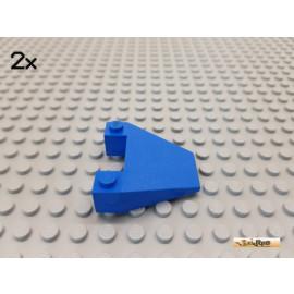 LEGO® 2Stk Keilstein / Flügel / Rumpf 6x4 blau 4856
