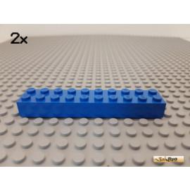 LEGO® 2Stk Stein Basic 2x10 blau 3006