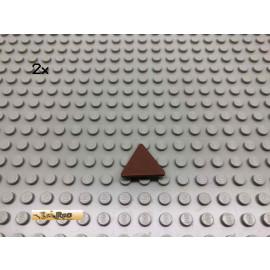 LEGO® 2Stk Schild Triangel mit Clip Brick Rotbraun, Reddish Brown 30259 72