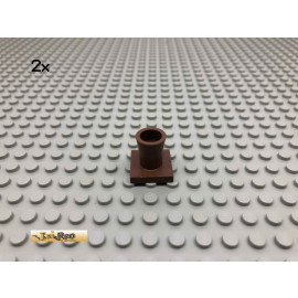 LEGO® 2Stk System Palmen Stamm Fuss Brick Braun, Brown 2563 48