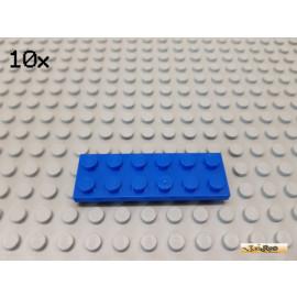 LEGO® 10Stk Platte Basic 2x6 blau 3795