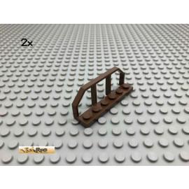 LEGO® 2Stk 1x6 City Zaun Eisenbahn Braun, Brown 6583 111