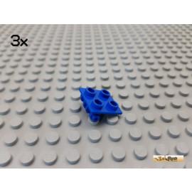 LEGO® 3Stk Platte 2x2 modifiziert / Scharnier blau 6134
