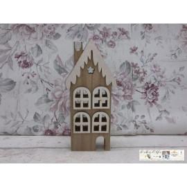 Gilde Weihnachtliches Haus klein Holz Weihnachtsdekoration Tischdekoration