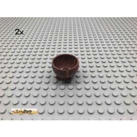 LEGO® 2Stk Cylinder Halbkugel Brick Rotbraun, Reddish Brown 44358 56
