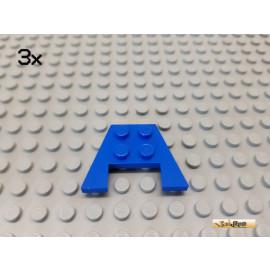 LEGO® 3Stk Keil / Flügelplatte 3x4 blau 4859