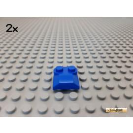 LEGO® 2Stk Platte 2x2 modifiziert / Schrägstein / Rundung blau 41855
