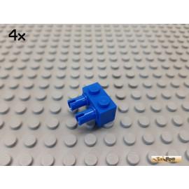 LEGO® 4Stk Stein 1x2 modifiziert mit 2 Pins blau 30526
