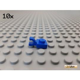 LEGO® Platte 1x1 mit Clip horizontal blau 61252